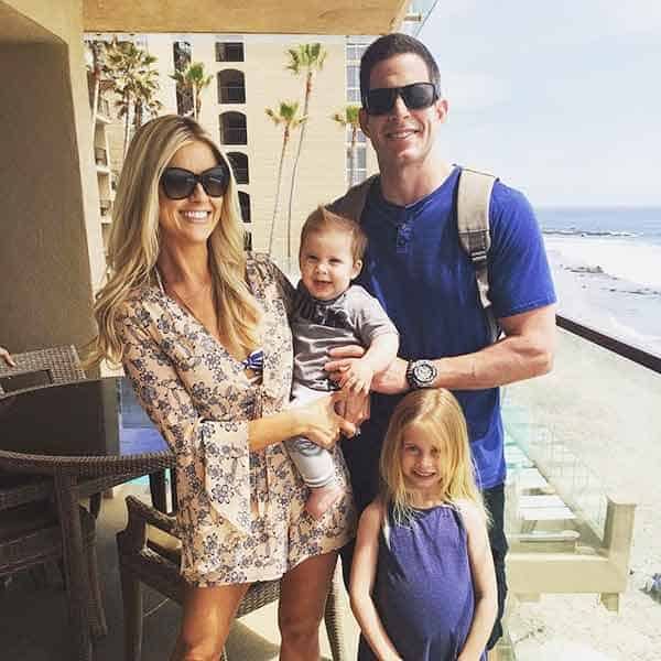 Christina El Moussa with her ex-husband and children