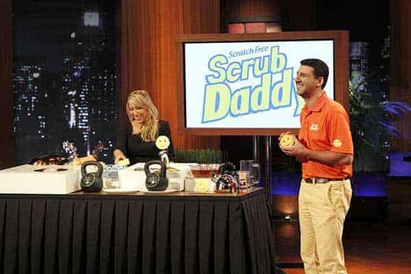 Lori Greiner advertising her product Scrub Daddy