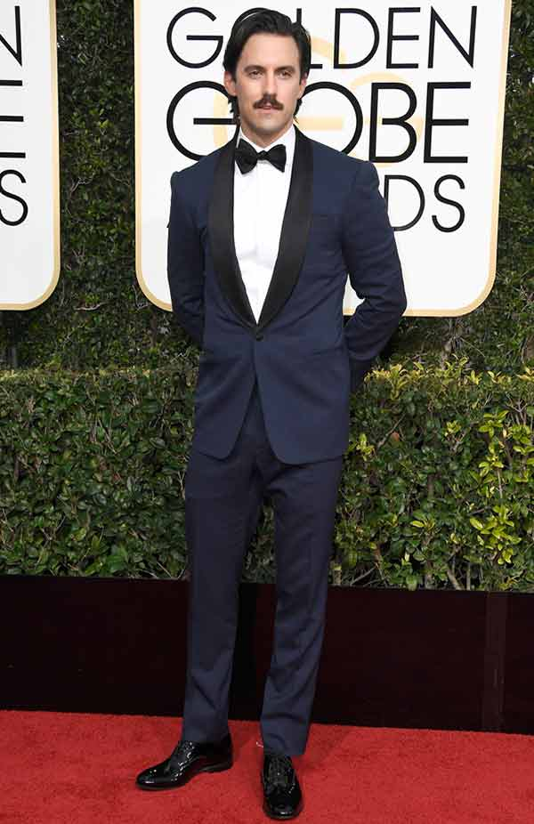 Milo Ventimiglia attempting award function Golden Globes Red Carpet 2017
