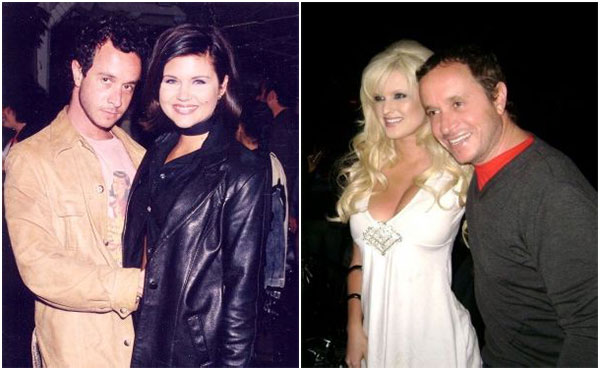 Pauly Shore with girlfriends Kina Tavarozi (Right) and Tiffani Thiessen (Left)