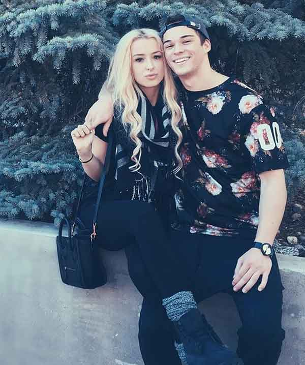 Tana Mongeau with her boyfriend Somer Hollingsworth