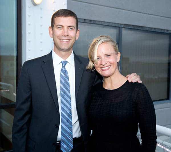 Tracy Wilhelmy Stevens and her husband Brad Stevens