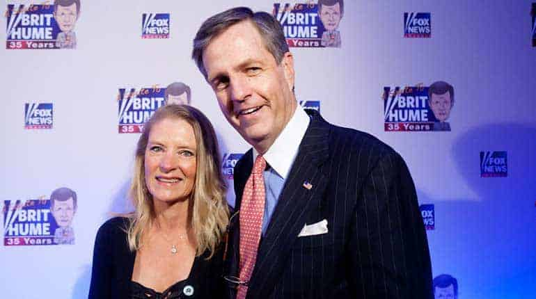 Brit Hume married his wife Kim Hume