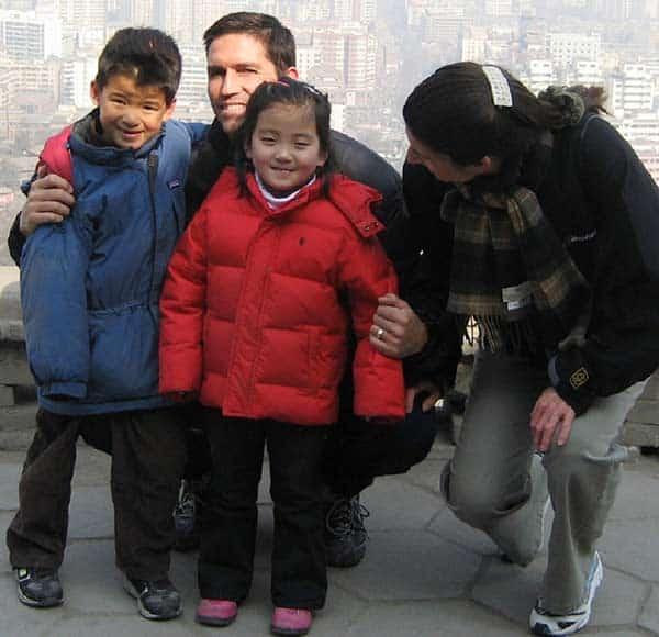 Jim Caviezel and Kerri Browitt: Happy parent of three children