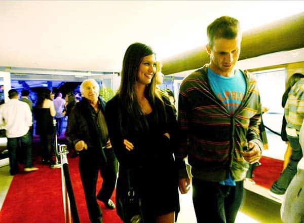 Daniel Tosh seen with his girlfriend Megan Abrigo