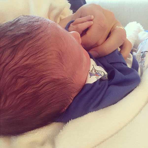 Daphne Oz and John Jovanovic welcoming their child son Jovan Jr.