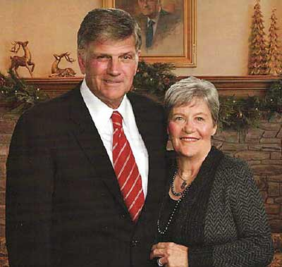 Franklin Graham and wife Jane Austin Cunningham seen happy together