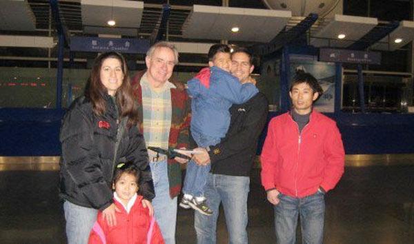 Kerri Browitt with her husband Jim Caviezel and children