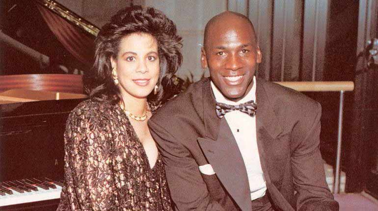 Michael Jordan and his ex-wife Juanita Vanoy Jordan