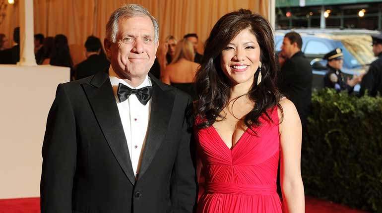 Julie Chen with her husband Leslie Moonves
