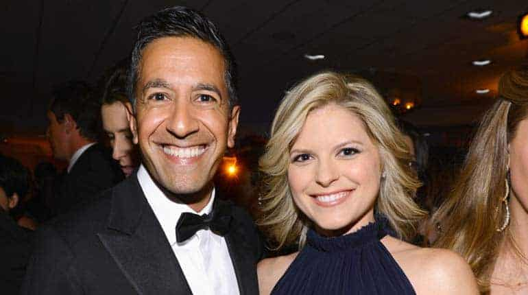 Michael David Gershenson with wife Kate Bolduan