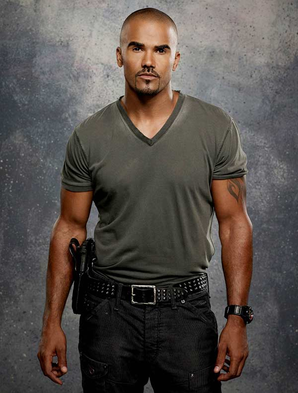 "Handsome Shemar Moore detective looks in series ""Criminal Minds"""