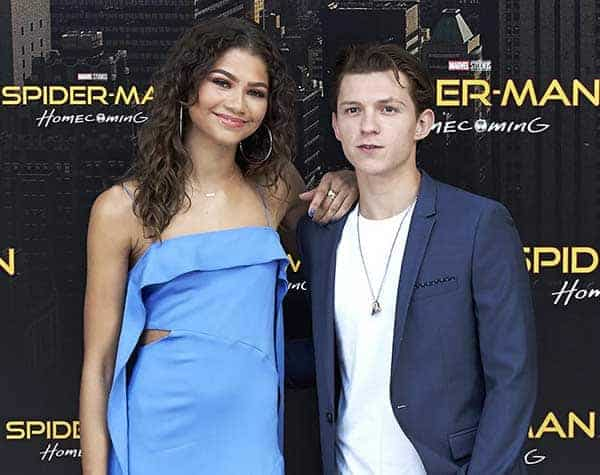 Zendaya seen with her Spider-man: Homecoming co-star Tom Holland which is slated to release in June 2017