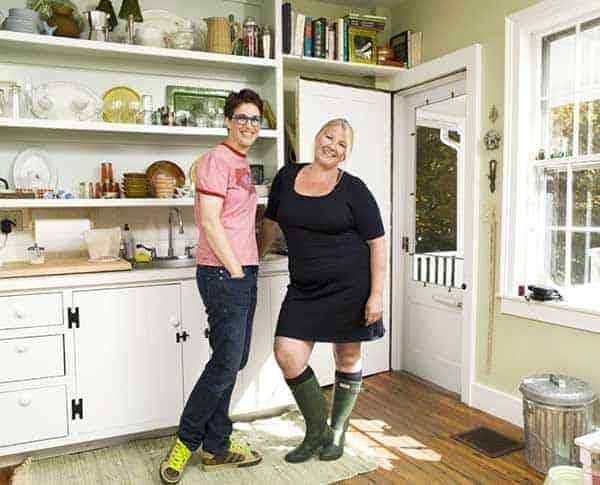 Susan Mikula with her life partner Rachel Maddow