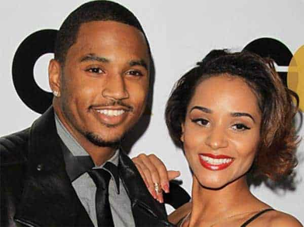 Trey Songz and his girlfriend Tanaya Henry seen in romantic moment