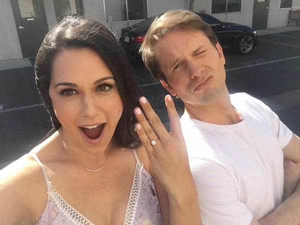 Tyler Ritter with wife Lelia Parma engagement