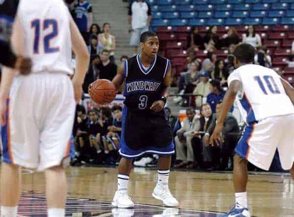 Malcolm Washington playing basketball