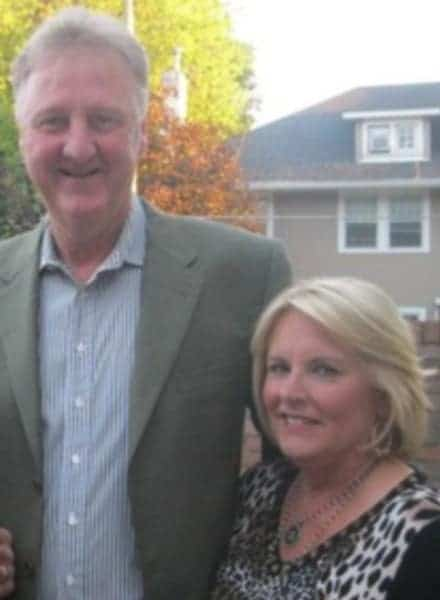 Larry Bird and his first wife Dinah Mattingly together
