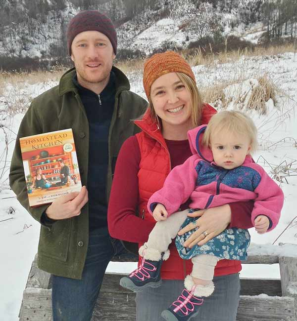 Eve Kilcher and her husband Eivin Kilcher with their child