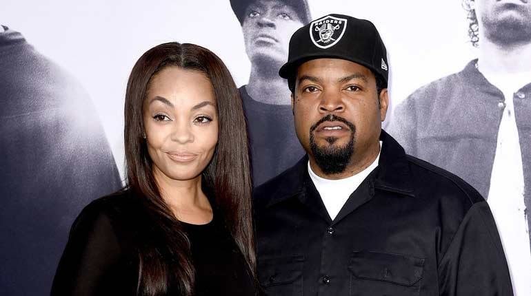 Ice Cube and his wife Kimberly Woodruff