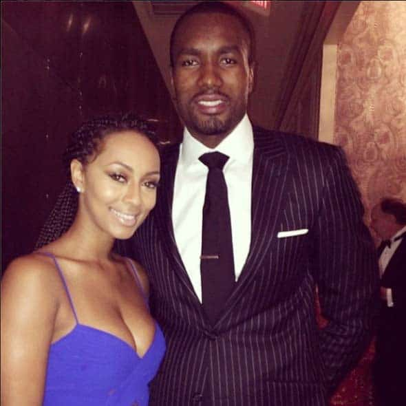Samuel Soba and his wife Keri Hilson
