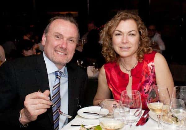 Valerie Bonacini and her husband Michael Bonacini having dinner together