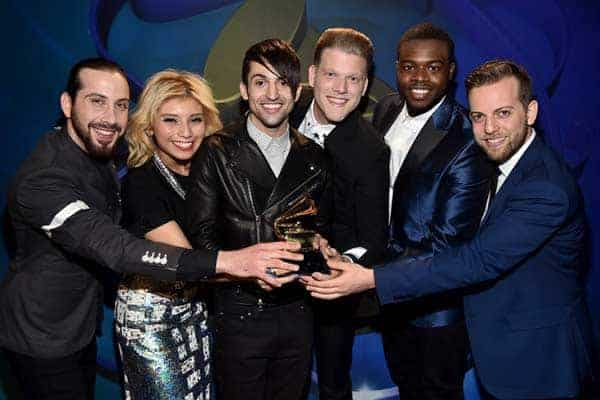 Pentatonix group happy moment after winning 57th Grammy Awards