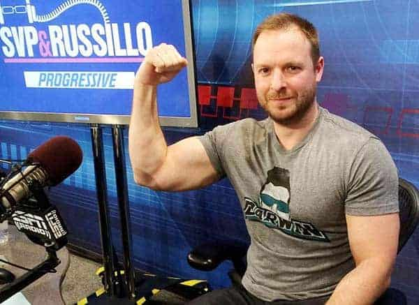 Smoking Hot: Ryen Russillo showing his arm in his show