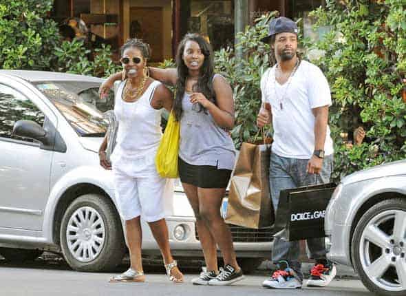 Denzel's family on vacations