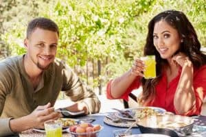 Stephen Curry and his wife Ayesha Curry