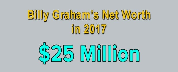 Billy Graham's net worth is $25 Million