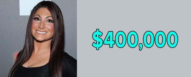 Deena Nicole Cortese's net worth is $400 thousand