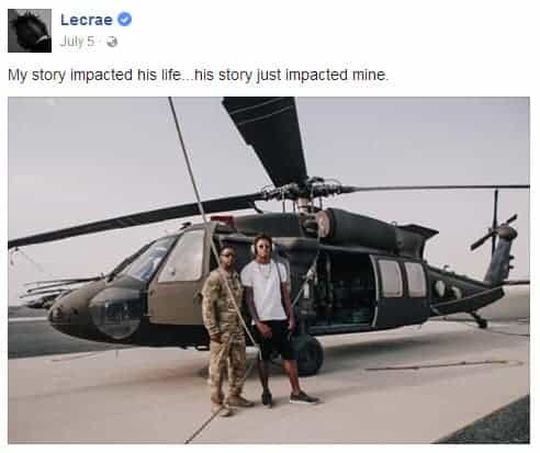 Lecrae and his friend sharing their impact of life