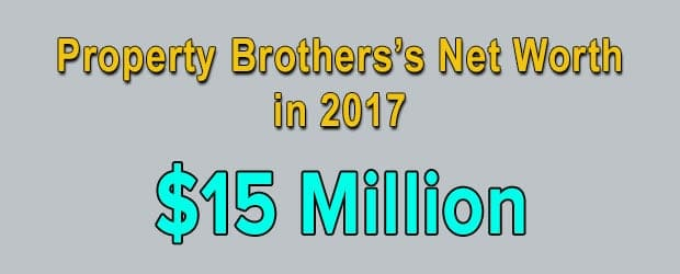 Property Brothers's net worth is $15 Million