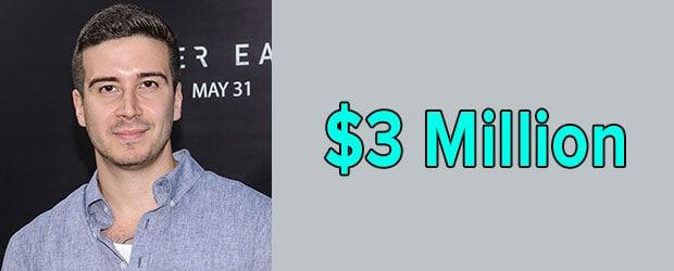 Vinny Guadagnino's net worth is $3 Million