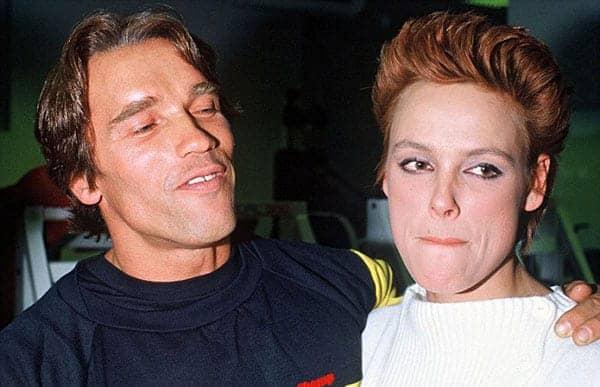Arnold Schwarzenegger and Brigitte Nielsen