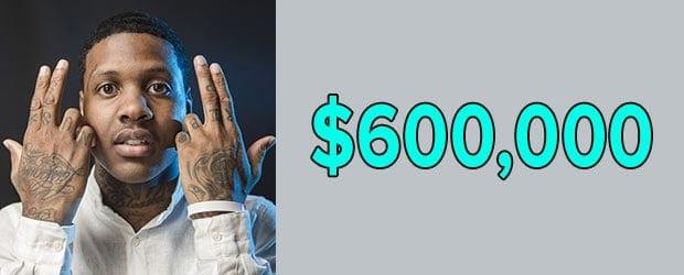 Lil Durk's net worth is $600,000