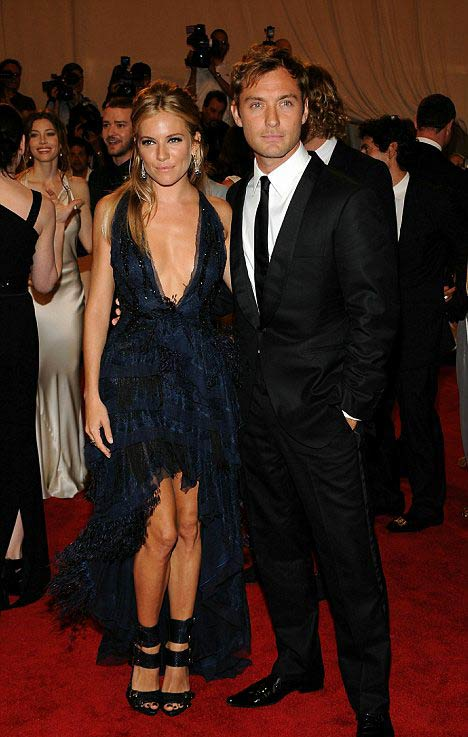 Sienna Miller and Jude Law after break up
