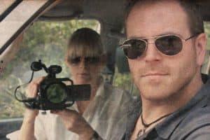 Josh Gates & His Wife Hallie Gnatovich on jeep adventure