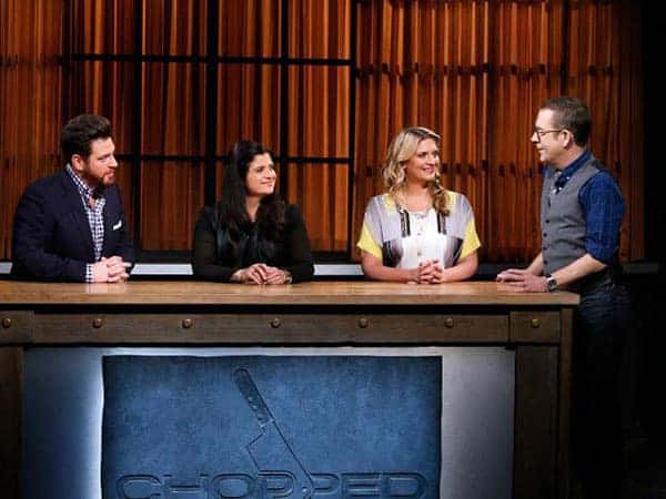 "Amanda as judge on the culinary game show ""Chopped"""
