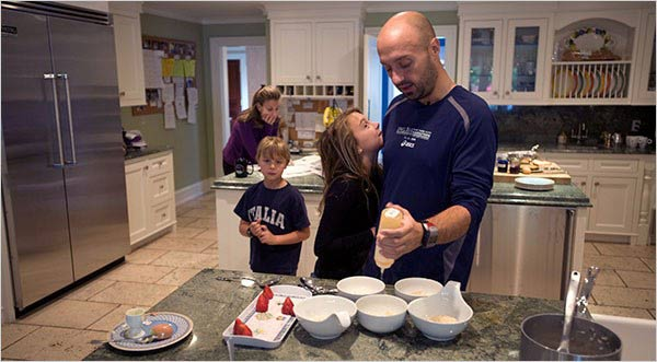 Joe Bastianich and his family