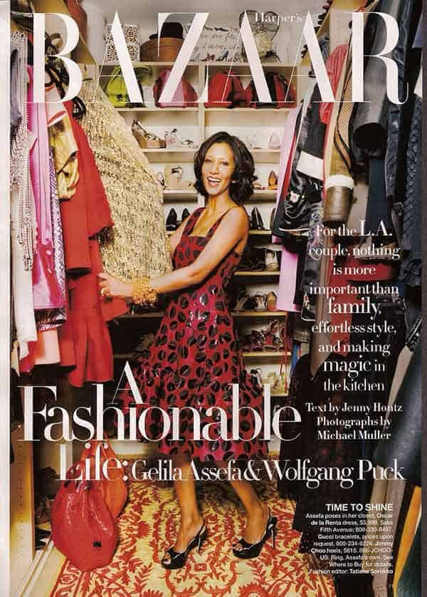 Gelila Assefa In Cover Page Of Bazaar Magazine