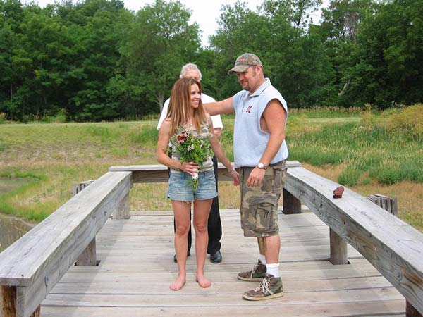 Larry The Cable Guy & Carra Whitney Wedding Picture