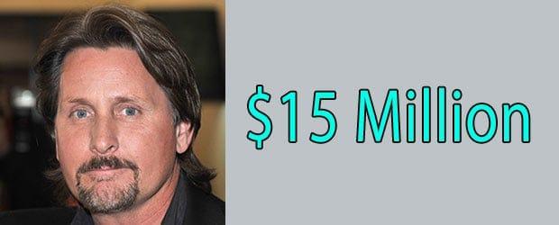 Net worth of Emilio Estevez is $15 Million