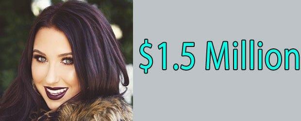 Net worth of Jaclyn Hill is $1.5 Million