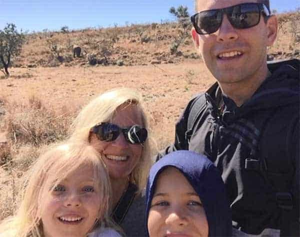 Happy Family Time: Tracy Wilhelmy Stevens, Brad Steven and her children
