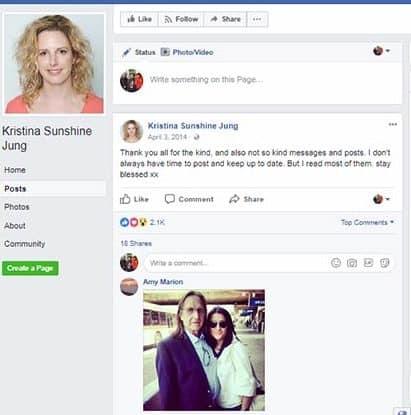 Kristina Sunshine Jung Facebook Page