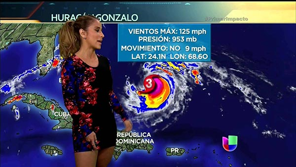 Jackie Guerrido Live Broadcasting World Weather News