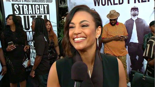 Tomica Wright on Red Carpet