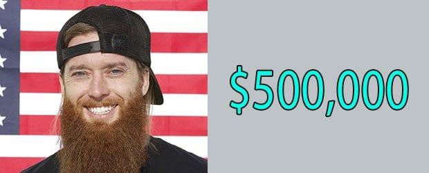 Net Worth of Josh Stewart aka Red Beard